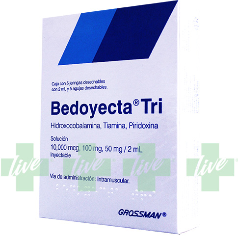 BEDOYECTA-TRI 5X2 ML 5 AMP | Farmalive